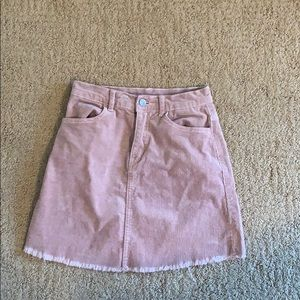 pink courdaroy skirt